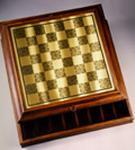 Leatherette Cabinet Board w/ Backgammon /312
