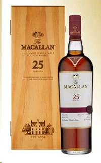 Macallan 25 yr old, Single Malt Scotch Whisky (Scotland) 750ml