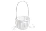 Simply Satin Flower Girl Basket - Ivory