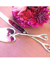Chrome Heart Cake Servers
