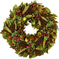 Pear Hydrangea Wreath - 18 Inch