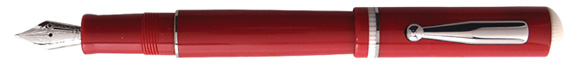 Via Veneto Red with Platinum Fountain Pen