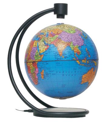 8'' Levitating Blue Globe