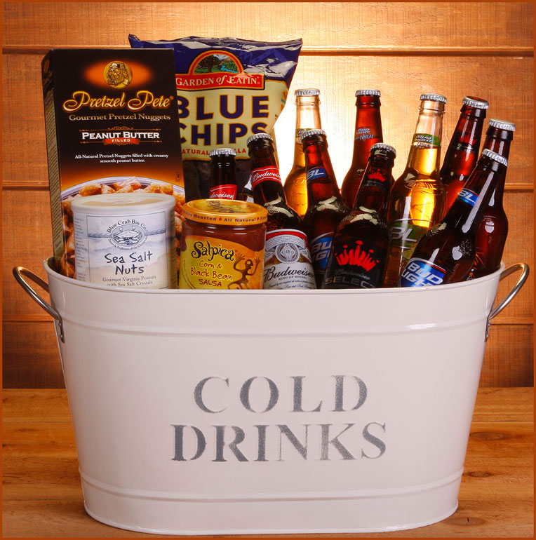 Bucket O' Bud Gift Basket
