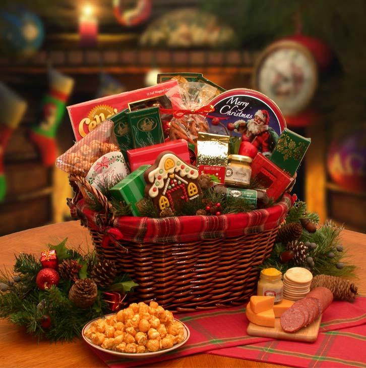 Holiday gift baskets sendgiftbaskets fireside gourmet gift basket negle Images