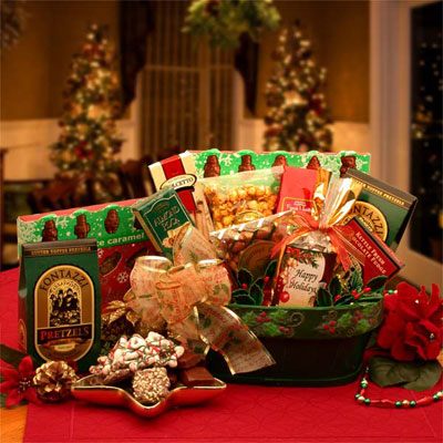 A Merry Christmas Greeting Gift Basket