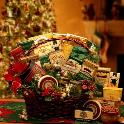Grand Gatherings Holiday Gourmet Gift Basket - Med