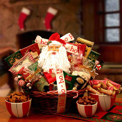 Santa's Sweet Shop Of Chocolates Gift Basket
