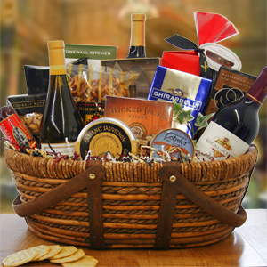 Christmas Gourment Wine Gift Basket